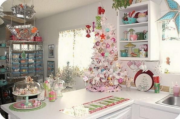 decoración navideña para barras de cocina fantasiosa