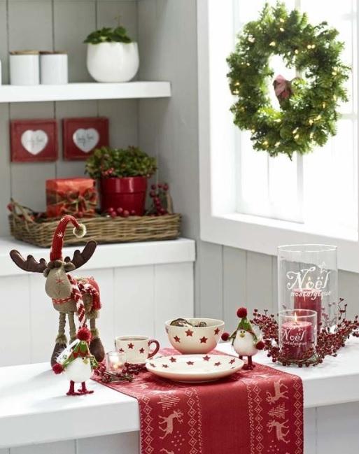 decoración navideña para barras de cocina con peluches