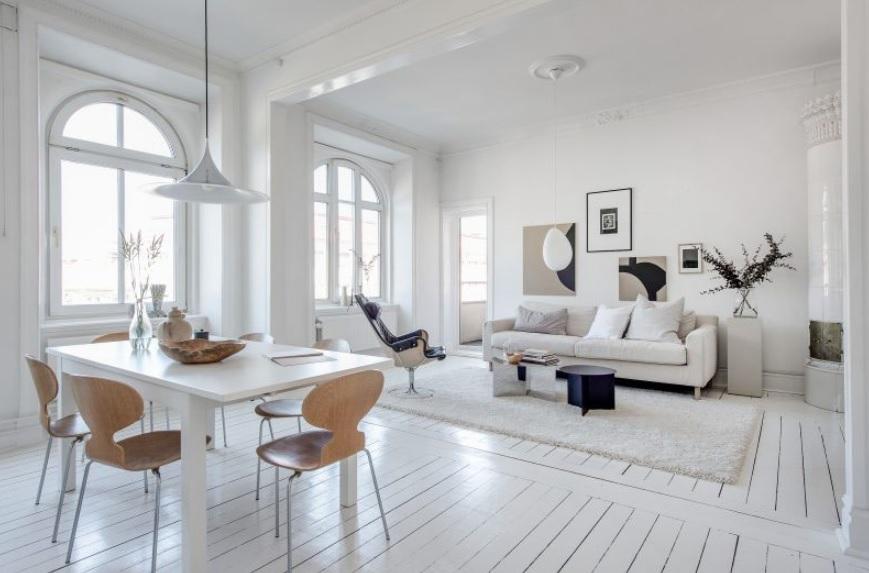 Decoración nórdica barata y espacioso