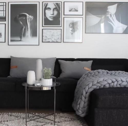 Fotografías en blanco y negro para una pared nórdica