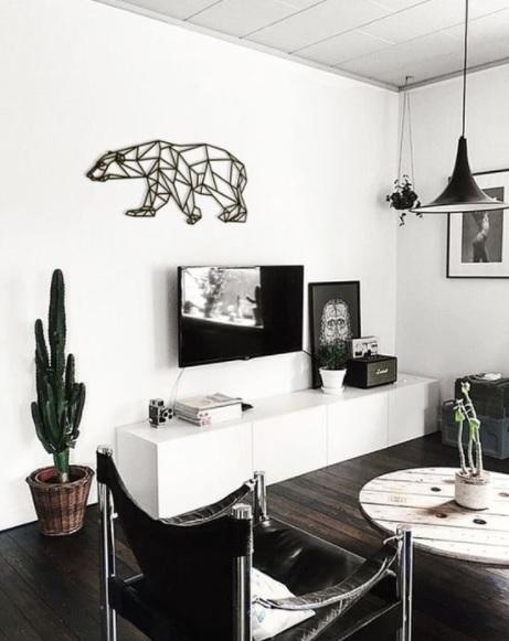 Decoración nórdica para tu pared con figuras geométricas