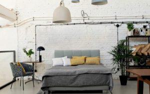 Dormitorio estilo nórdico industrial