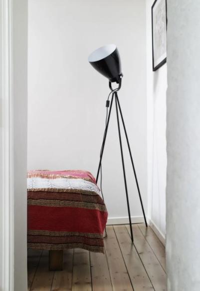 Dormitorio estilo nórdico industrial sencillo