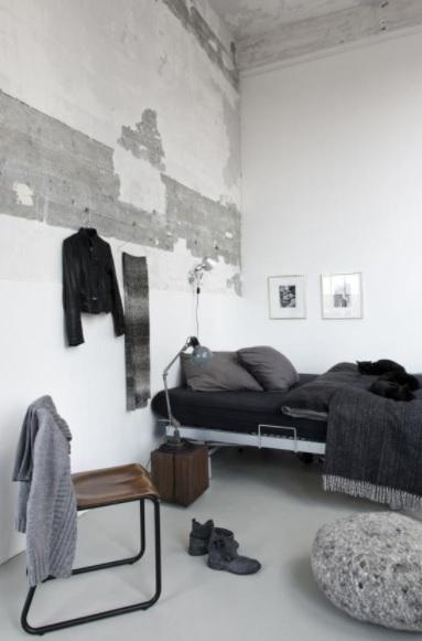 Dormitorio estilo nórdico industrial y cozy