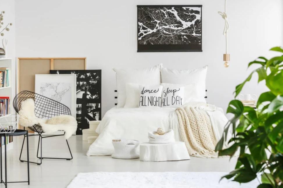 Dormitorio juvenil estilo nórdico fresco y luminoso