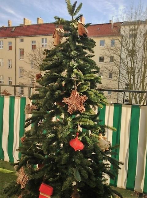 decorar la terraza en navidad con arbol