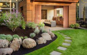 Jardines rústicos de piedra