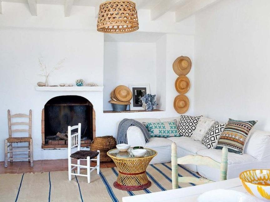 Pisos con estilo mediterráneo con artesanías