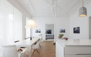 Pisos minimalistas en color blanco