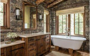 baño pequeño y rústico