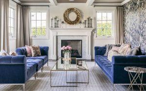 cojines para sofa azul marino