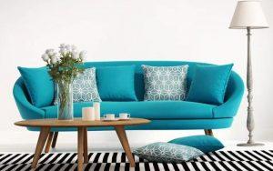 cojines para sofas azules turquesa