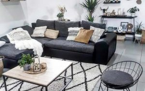 cojines para sofás gris marengo