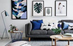 cojines para sofás gris oscuro