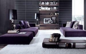 cojines para sofas morados