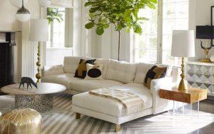 cojines para un sofa de piel blanco