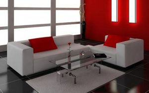 cojines rojos para decorar sofas