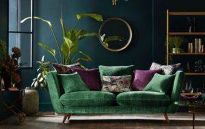 cojines verde esmeralda