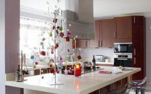 decoración navideña para barras de cocina