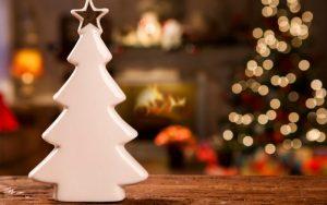 decoración para un árbol de navidad minimalista