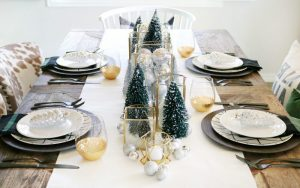 decorar Mesas Navideñas Modernas