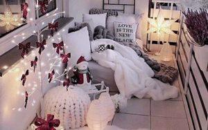 decorar la terraza en navidad
