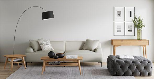 Gris + Minimalismo para un salón perfecto