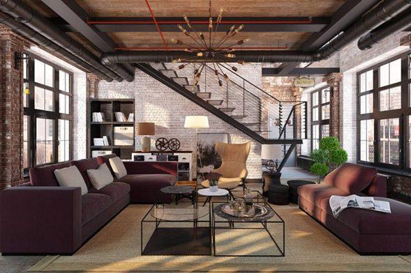 Un Toque de Modernidad para un Salón Rustico Industrial