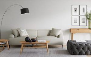 La iluminación es esencial para un salón minimalista